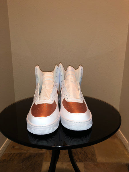 "HAND PAINTED ""COPPER TOPS"" SHOES BY LIL' FLIP"