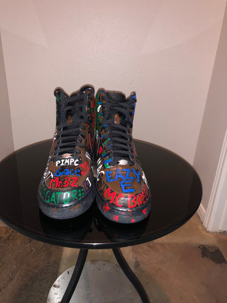 "HAND PAINTED ""RIP LEGENDS"" SHOES BY LIL' FLIP"