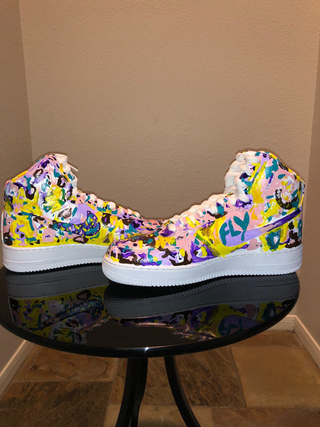 "HAND PAINTED ""EASTER SUNDAY"" SHOES BY LIL' FLIP"