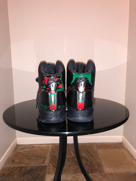 "HAND PAINTED ""XO ROSES"" SHOES BY LIL' FLIP"