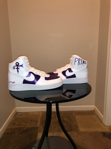 "HAND PAINTED ""RIP PRINCE"" SHOES BY LIL' FLIP"