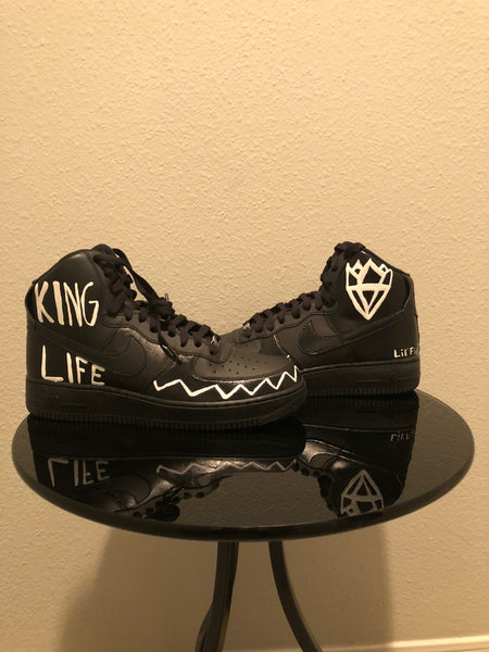 "HAND PAINTED ""KINGLIFE"" SHOES BY LIL' FLIP"