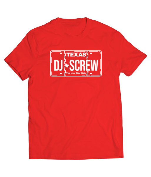 RED DJ SCREW PLATE SHORT SLEEVE