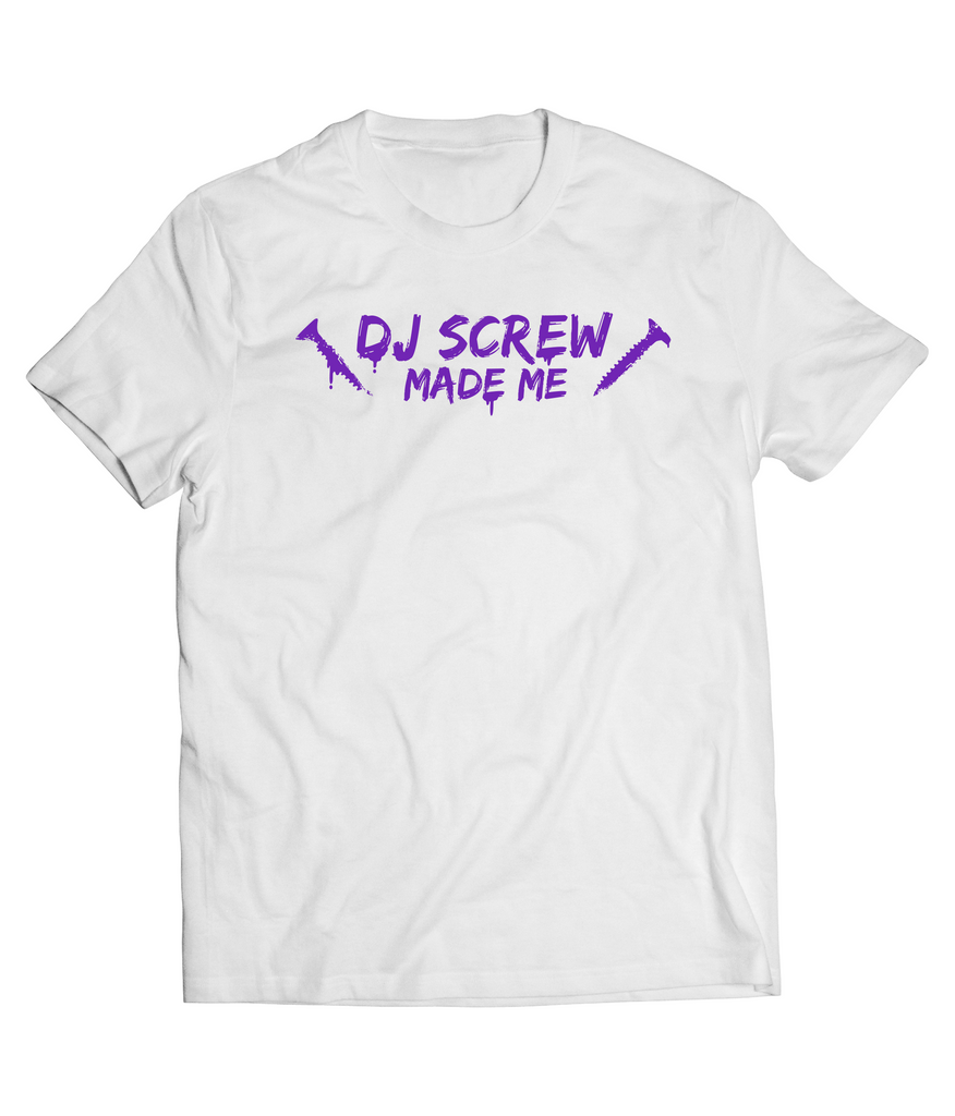 WHITE DJ SCREW MADE ME SHORT SLEEVE