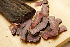 2 LB  BEEF BILTONG LOW SALT, STICKS, SLICES & CHUNKS - APPROXIMATELY 35 - 45 % LESS SALT