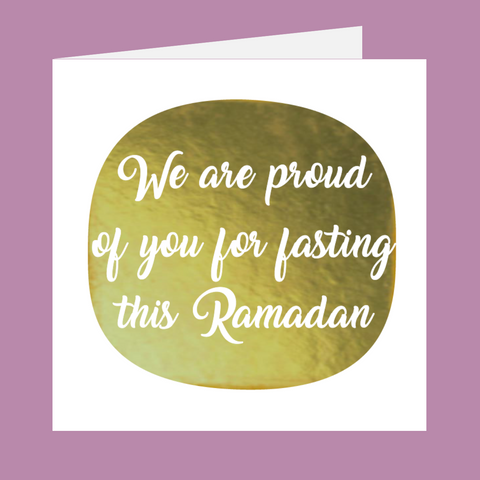 Shining Moments - We Are Proud Of You For Fasting This Ramadan