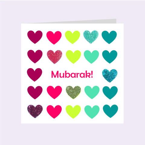 Elaara ColourBlock- Mubarak! Greeting Card