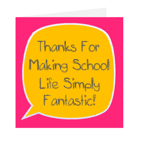 Dear Teacher - Simply Fantastic Pink Greeting Card