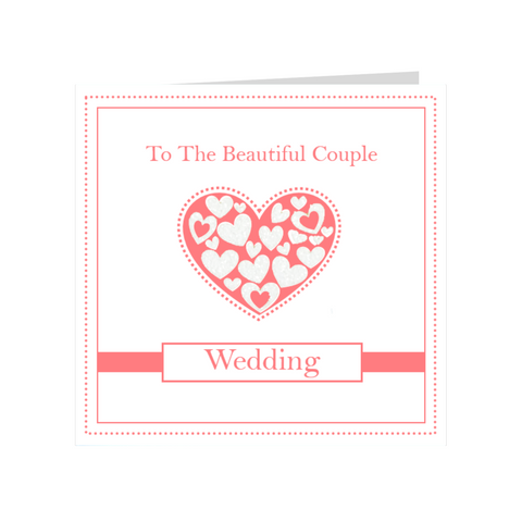 Elaara Beautiful Couple Pink Wedding Greeting Card