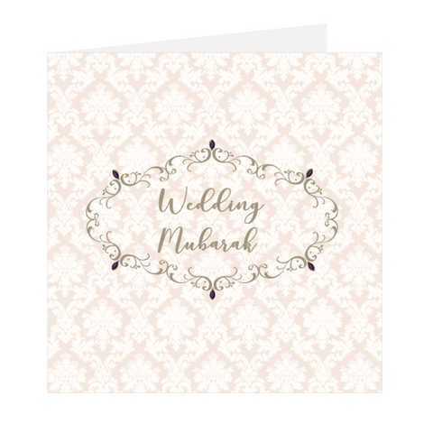 Elaara Eastern Gems Wedding Mubarak Greeting Card