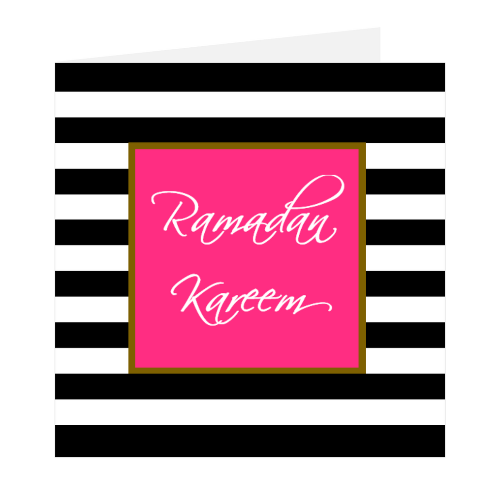 Ramadan Wishes - Ramadan Kareem Stripes Pink
