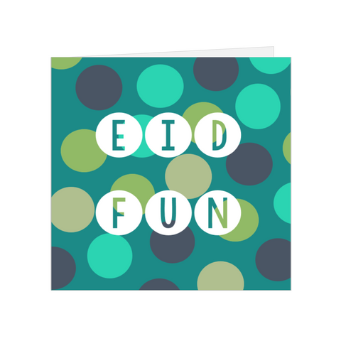 Elaara Eid Fun Greeting Card - Blue