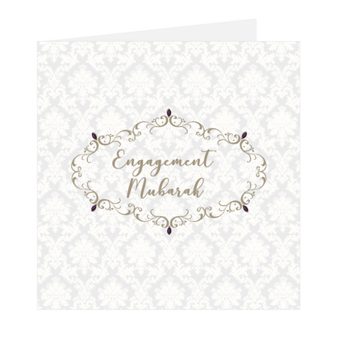 Elaara Eastern Gems Engagement Mubarak Greeting Card