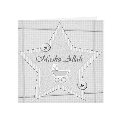 Masha Allah Glittered Star - Blue