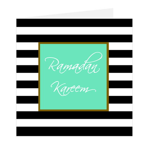 Ramadan Wishes - Ramadan Kareem Stripes Green