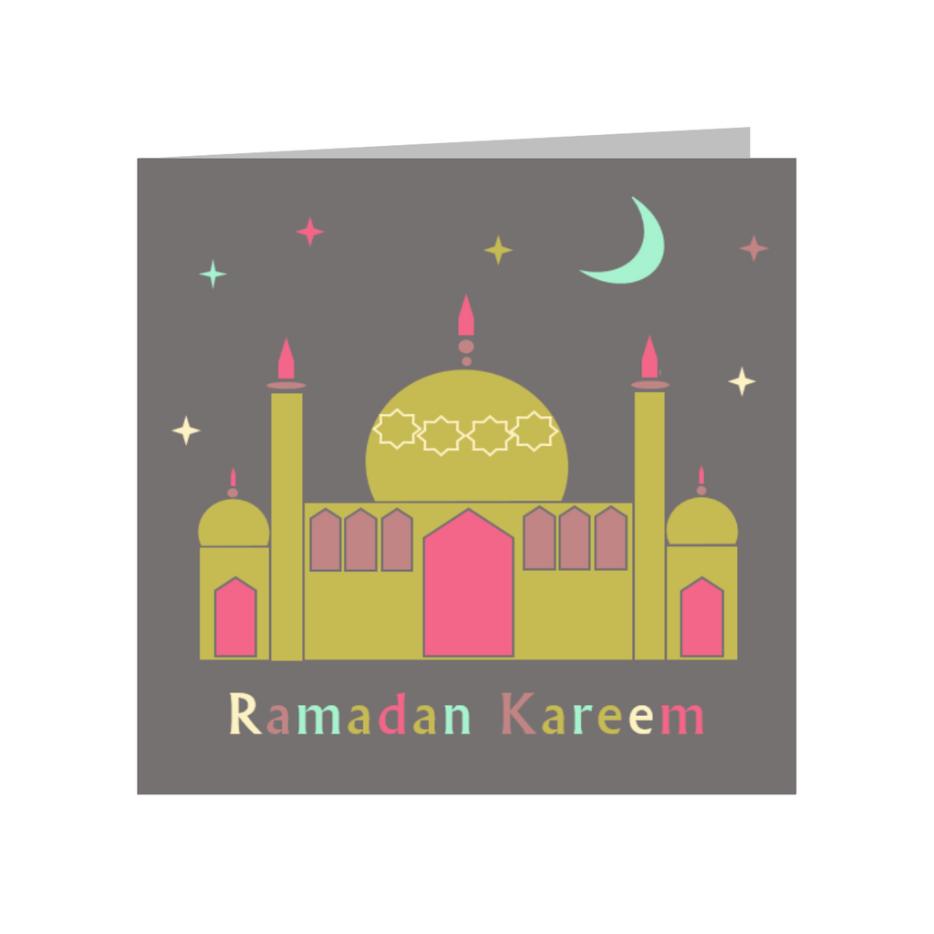 Elaara Ramadan Kareem Mosque Greeting Card