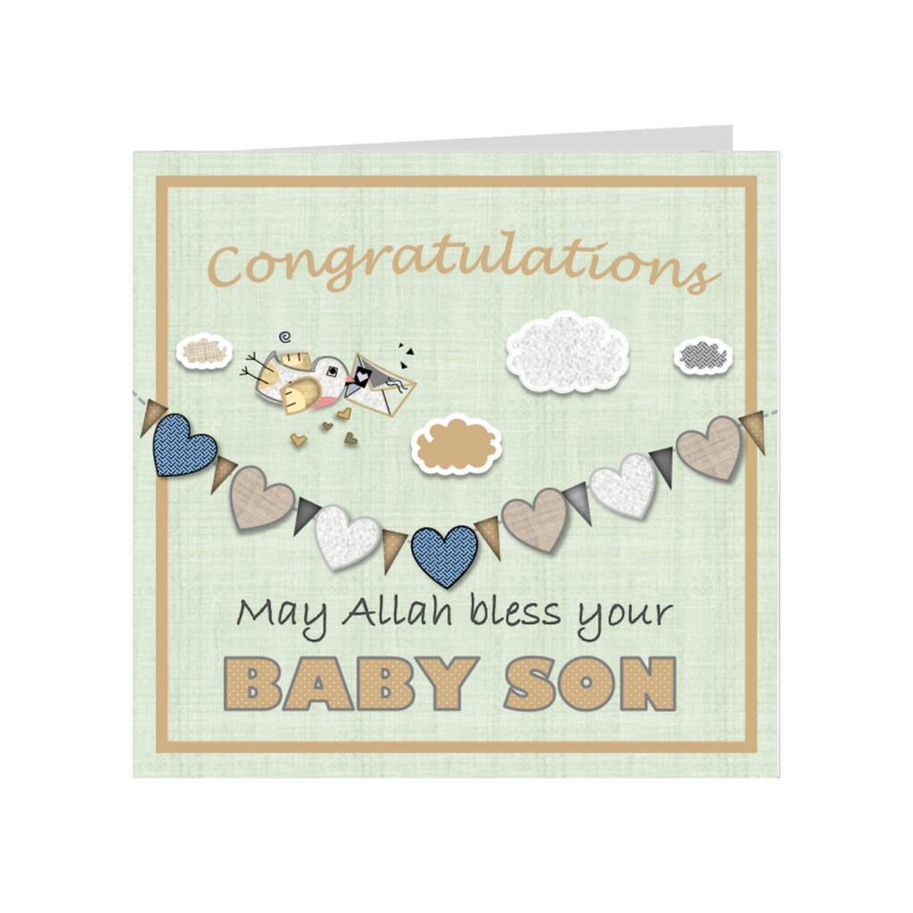 Elaara Baby Son Greeting Card
