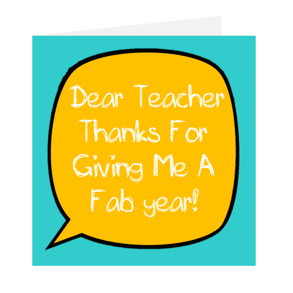 Dear Teacher - Fab Year Blue