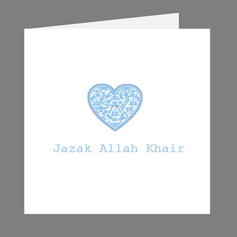 Elaara Precious Hearts Jazak Allah Khair Greeting Card
