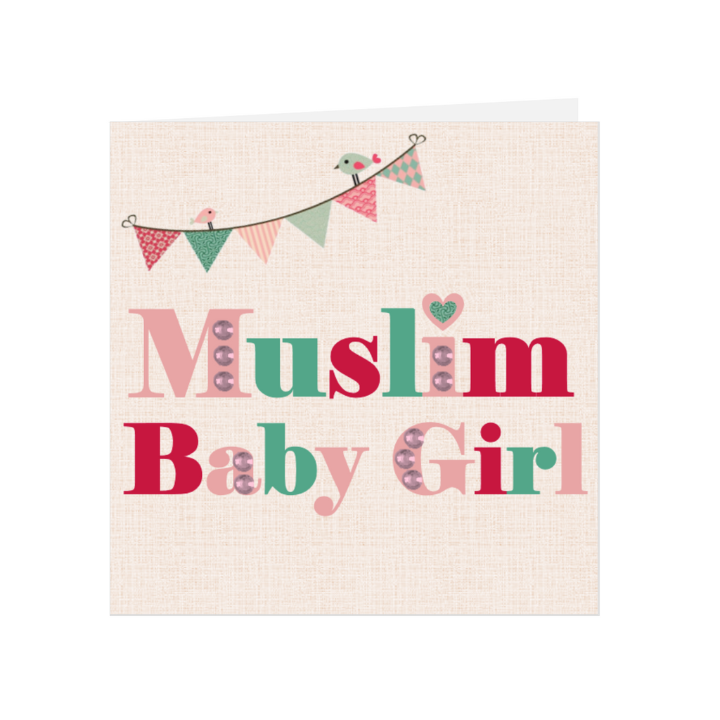 Elaara Baby Bling Greeting Card - Pink