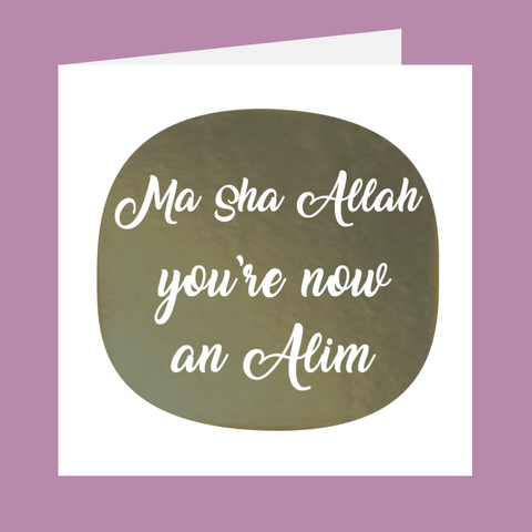 Shining Moments - You're Now An Alim