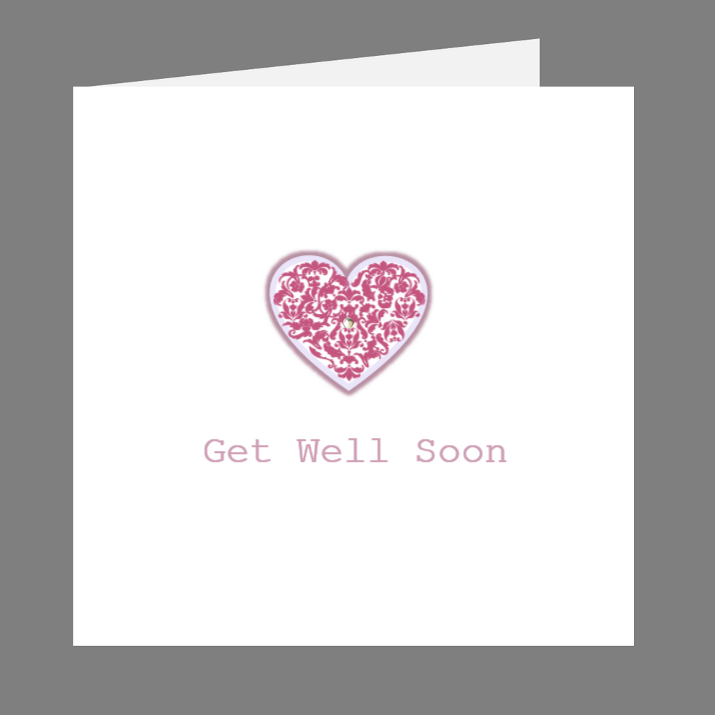 Elaara Precious Hearts Get Well Soon Greeting Card