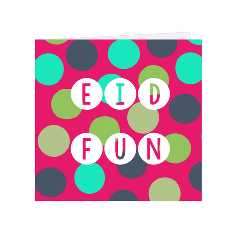Elaara Eid Fun Greeting Card - Pink