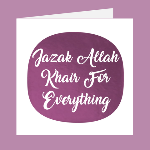 Shining Moments - Jazak Allah Khair For Everything