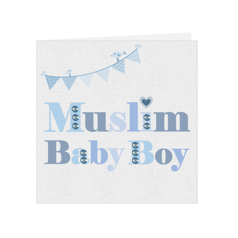 Elaara Baby Bling Greeting Card - Blue