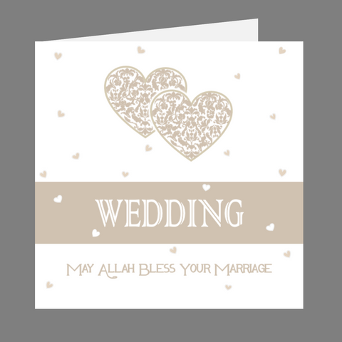 Elaara Precious Hearts Glittered Wedding Card