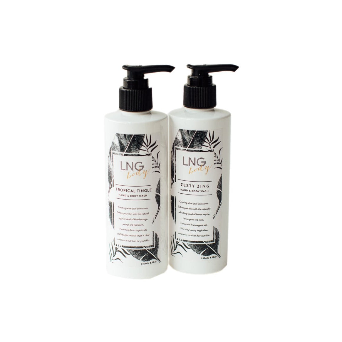 Organic Hand and Body Wash 250ml - Light & Glo. Designs