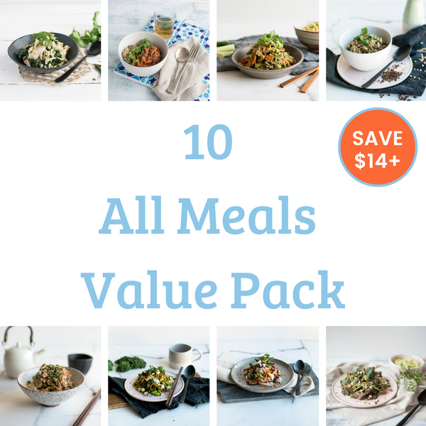 10 Meal Value Pack - All Meals. Save over $14!
