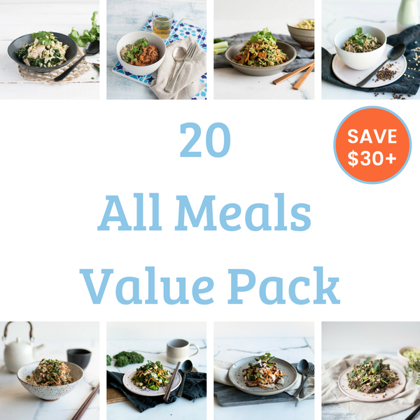 20 Meal Value Pack - All Meals. Save over $50!