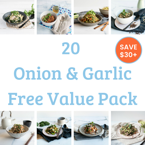 20 Meal Value Pack - Onion & Garlic Free. Save over $50!
