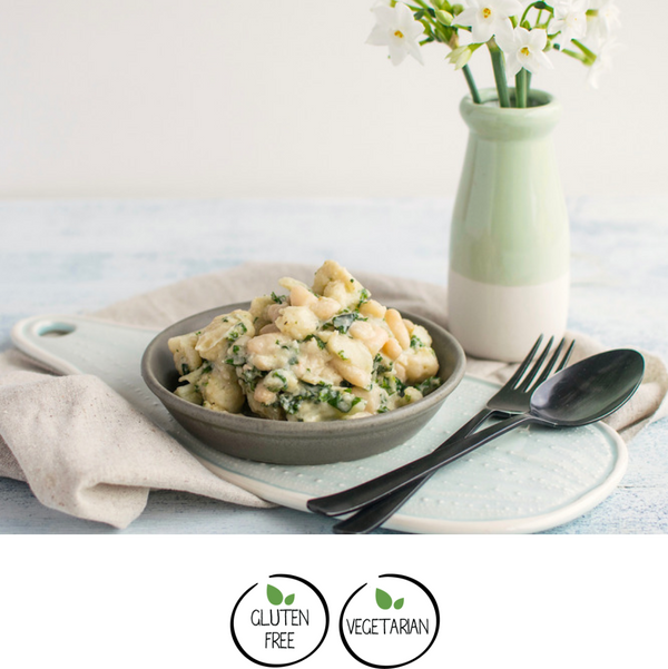 Cauliflower & Whitebean Bake w/ Fennel & White Sauce