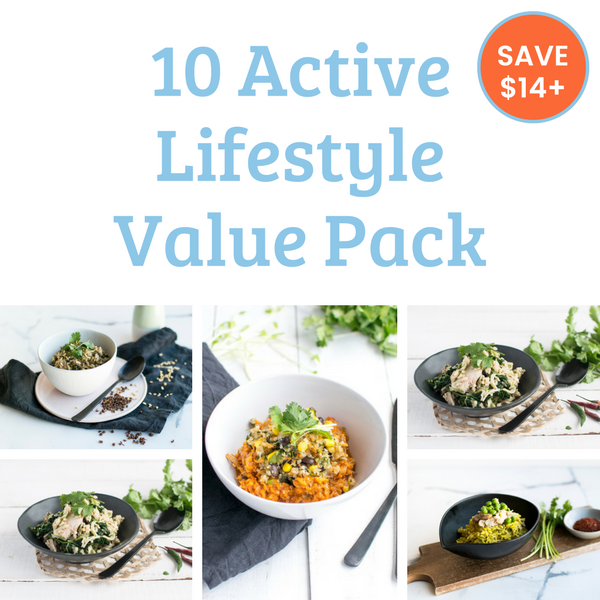 10 Meal Value Pack - Active Lifestyle. Save over $14!