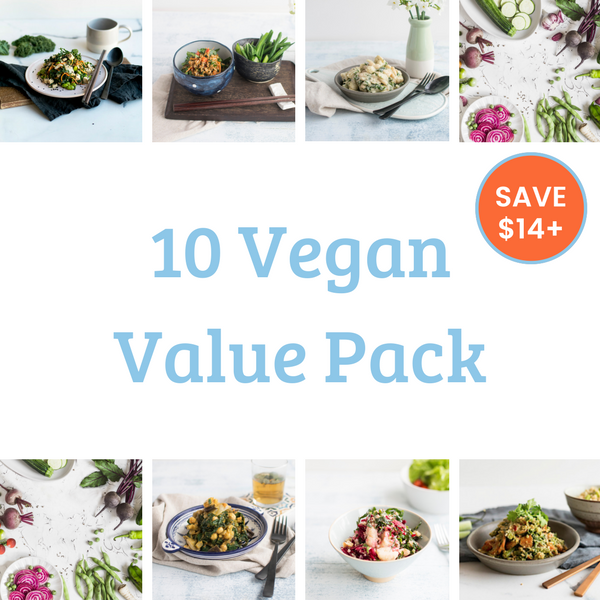 10 Meal Value Pack - Vegan. Save over $14!