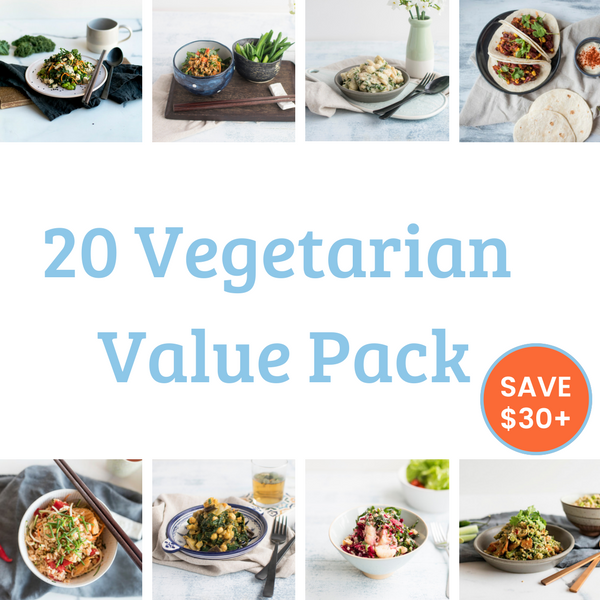 20 Meal Value Pack - Vegetarian. Save $39!