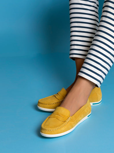Amelia Suede Loafers  (Yellow)