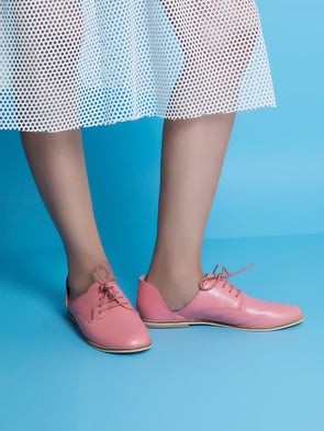 Natalie Oxfords (Coral Pink)