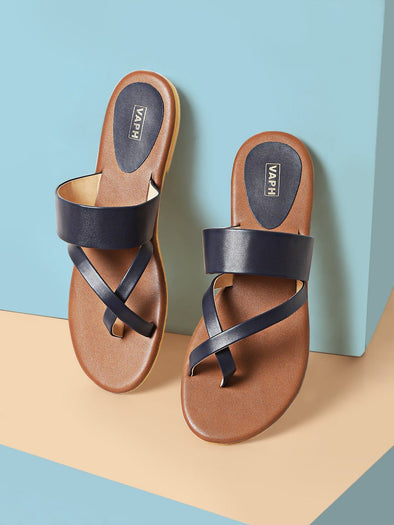 Amber Slides (Navy Blue)