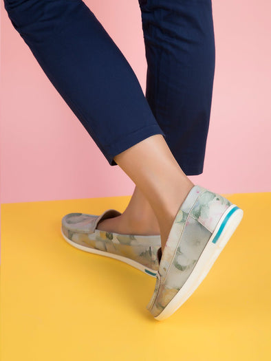 Misty Floral Loafers  (Mint Flower)