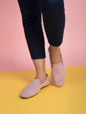 Delilah De-constructed Loafers  (Light Rose)