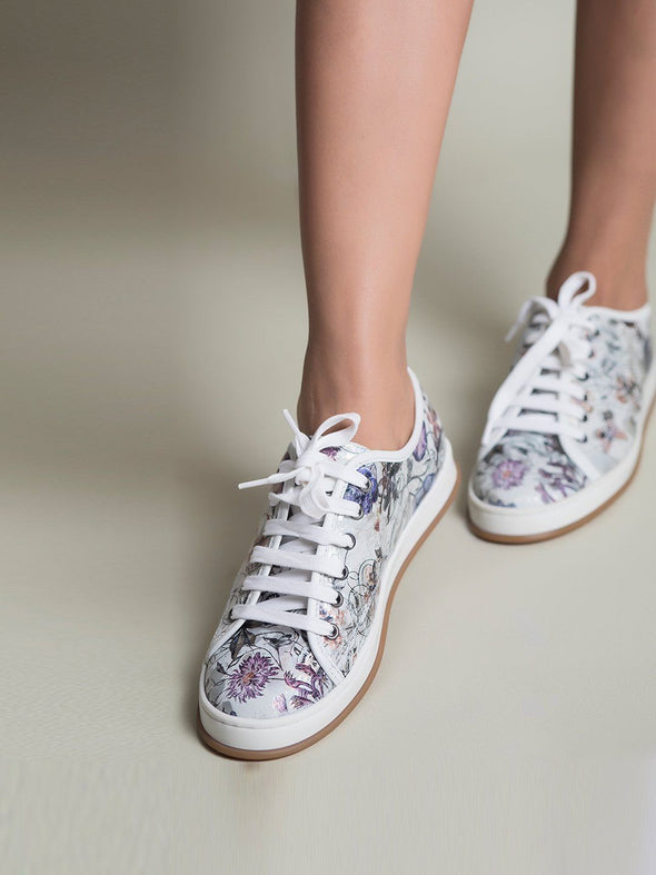 Carol Floral Sneakers (Ice Silver)