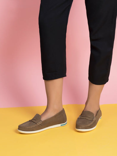 Amelia Suede Loafers  (Pepper)