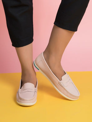 Cleo Loafers (Light Rose)