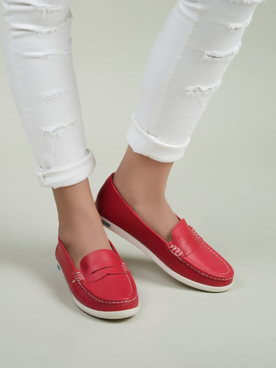 Cleo Loafers (Red)