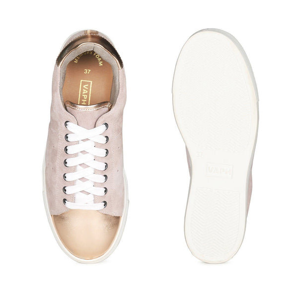Selena Metallic Toe Cap Sneakers