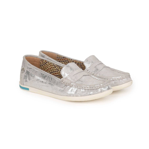 Misty Floral Loafers  (Silver Flower)