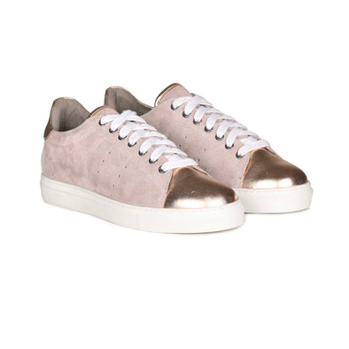Selena Metallic Toe Cap Sneakers (Light Rose)